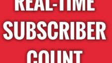 How to See Your Real-Time YouTube Subscriber Count