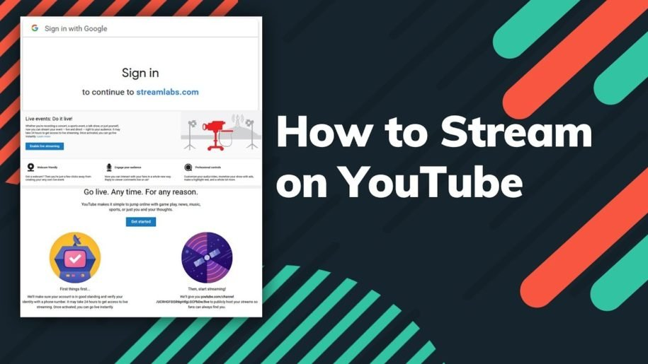 how to start a stream on YouTube