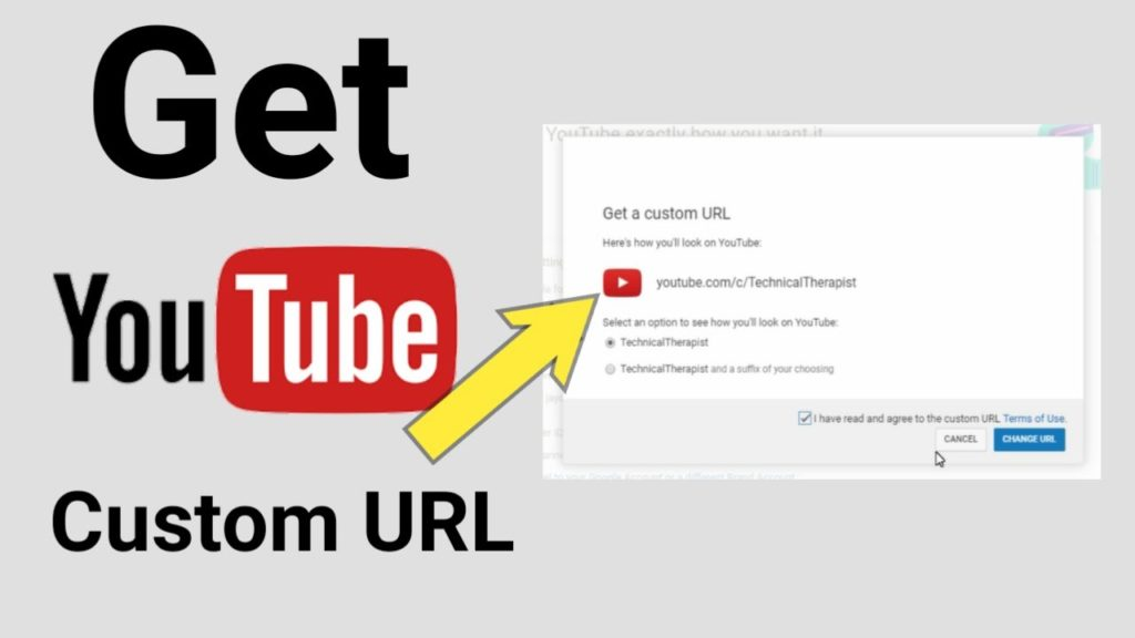 how to get your youtube url